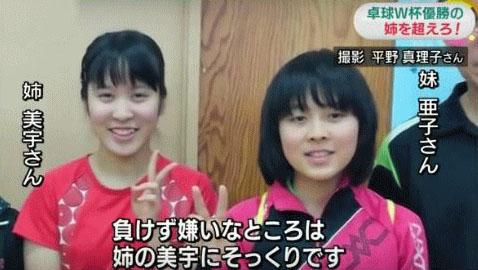 平野美宇の妹、亜子は発達障害者?実は意外なあの人達も…!?